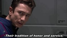 Fan Blog Dominic Keating (Gifs showing Dominic Keating as a very serious...)
