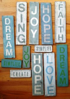 DIY Signs - make one that says Gather,Laugh make memories Or even a country kitchen one.