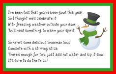 Snowman soup is a great idea for a homemade gift or even as a treat for you and the kids. Here's my step by step snowman soup tutorial for how we make it. Frugal Christmas, Christmas Makes, Christmas Printables, Christmas Snowman, Christmas Crafts, Xmas, Christmas Ideas, Christmas Ornaments, Snowman Party