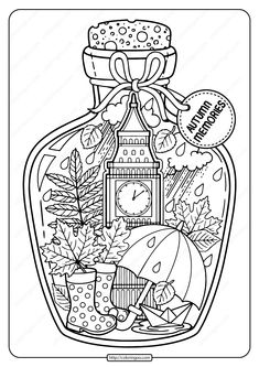 Printable Autumn Memories Pdf Coloring Page. High quality free printable coloring, drawing, painting pages here for boys, girls, children . Witch Coloring Pages, Abstract Coloring Pages, Bear Coloring Pages, Printable Adult Coloring Pages, Flower Coloring Pages, Mandala Coloring Pages, Christmas Coloring Pages, Coloring Pages To Print, Free Coloring