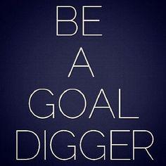 BE A GOAL DIGGER!!!
