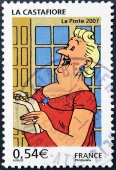 A stamp printed in France shows The Castafiore Emerald, circa 2007