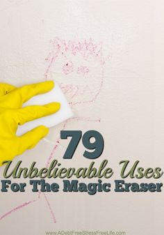 One day I was trying to figure out a way to cut down on the amount of time it was taking my staff to clean a house when I stumbled upon the Magic Erasers.  One clean and I was hooked.  No more scrubbing and sweating and swearing - just a little rub, rub, rub and poof, it's clean. You'll be amazed all the uses for the Magic Eraser!