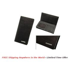 Tall Jacket Wallet with Texture & Logo Plate Price: USD $41 Details: This Tall Jacket Wallellt with Texture Pattern & Metal Logo Plate is made with quality Black leather. Each wallet is packed in Gift Box.  #rudolphAlexander #freeshipping #wallet #seller #sellershop #sellers #gift #metal #giftbox #black #mentalLogoPlate #Pattern #texturePattern #TallWallet