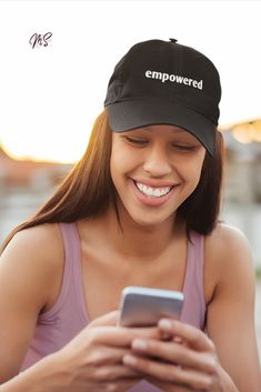 Feel empowered be empowered! We design and create clothing and accessories with positive words for girls who like to live life by their own rules. #womenscaps #caps #summerfashion #positive #quotes Positive Words, Positive Mindset, Positive Attitude, Positive Quotes, Create Clothing, Smoothie Shop, Caps For Women, Women Empowerment, Live Life