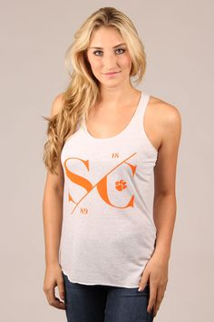 Champion NCAA Girls Tank Top with Scoop Neck and Racer Back NCAA Girls Tank Top with Scoop Neck and Racer Back