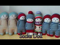 Cute sock doll hand sewing tutorial - YouTube