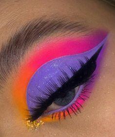 Indie Makeup, Edgy Makeup, Makeup Eye Looks, Eye Makeup Art, Pretty Makeup, Skin Makeup, Beauty Makeup, Maquillage Indie, Rave Makeup