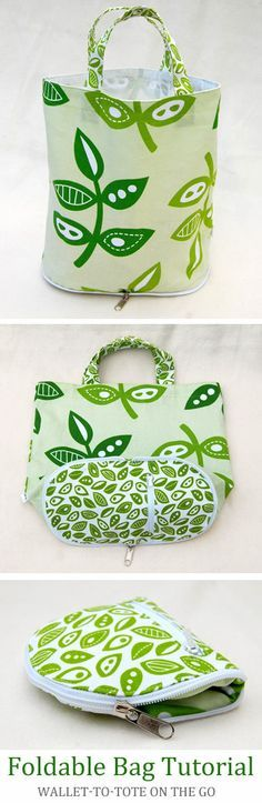 Foldable Bag DIY Tutorial http://www.handmadiya.com/2012/11/foldable-bag-fabric-diy-tutorial.html