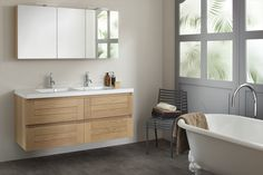 Sanijura Badkamermeubelen - Kies Sani-Dump voor alles in uw badkamer Ikea Bathroom, Bathroom Basin, Bathroom Furniture, Bathroom Ideas, Washroom, Armoire Ikea, Duravit, Clawfoot Bathtub, Corner Bathtub