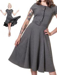 Simone grey - Rockabilly Clothing - Online Shop für Rockabillies und Rockabellas