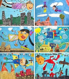 1st Grade Chagall Studies   Flickr - Photo Sharing!