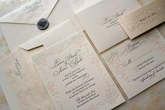 Versailles   SAMPLE Letterpress Wedding Invitation by chauhie, $12.00