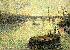 "Maximilien Luce, ""Le port de Londres"" 1893, Private Collection"