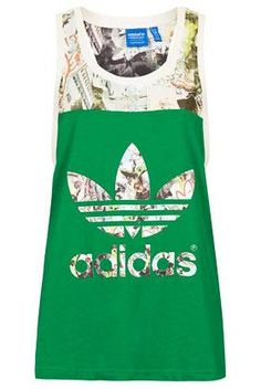 Electric Green is so Laid Back! Multi print and colour block vest by Topshop x adidas Originals.  Designer Fashion Clothes Accessories  topshop.com