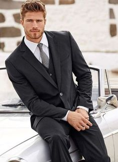 Dapper Gentleman, Dapper Men, Mens Fashion Suits, Mens Suits, Men's Business Outfits, Costume Sexy, Formal Men Outfit, Classy Suits, Blonde Guys