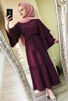 Abaya Style 751397519058306444 - Source by Abaya Fashion, Muslim Fashion, Modest Fashion, Fashion Clothes, Fashion Dresses, Islamic Fashion, Hijab Gown, Hijab Style Dress, Gown With Hijab