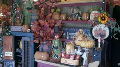 C & C Furnishings: FALL HAS ARRIVED! Primitive Homes, Primitive Fall, Country Primitive, Fall Store Displays, Berry Garland, Autumn Display, Harvest Decorations, Christmas Porch, Home Decor Store