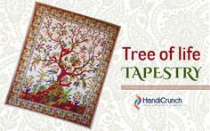 Tree of life is the sybolism of life give adorn look to your home with tree of life tapestry . Shop Now @Handicrunch