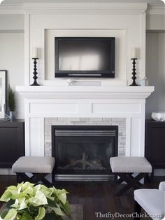 Love the classic, simple design around this fireplace