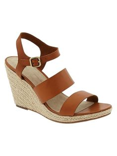 Espadrille Wedge Sandals - cognac from Gap on Catalog Spree