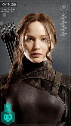The Hunger Games: Mockingjay - Part 1 Character Portraits found in District 13 schematic: Katniss Everdeen