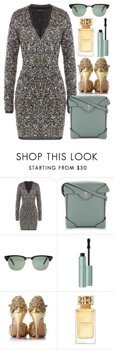 """""""All That Glitters"""" by egordon2 ❤ liked on Polyvore featuring Rachel Zoe, MANU Atelier, Ray-Ban and Tory Burch"""
