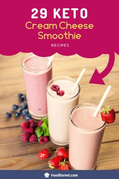 29 Keto Cream Cheese Smoothie Recipes Cream cheese is such a perfect keto ingredient. Healthy Smoothie, Diet Smoothie Recipes, Low Carb Smoothies, Raspberry Smoothie, Apple Smoothies, Smoothie Diet, Healthy Fats, Avacado Smoothie, Healthy Juices