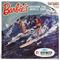 Vintage Barbie's Around The World Trip 1965 GAF View-Master Pack B 500 Stereo Slide Pictures Ken Skipper Midge Mattel Toys by vintagebaron on Etsy Travel Around The World, Around The Worlds, Barbie Stories, Barbies Pics, Barbie Sets, Barbie Diorama, View Master, Retro Toys, 1960s Toys