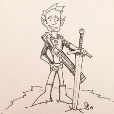 #inktober Day 20: Adventurer #manuscriptinktober @manuscriptpe… http://j.mp/1OQ6MSw
