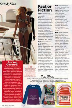 Featured in the May 2014 Issue of Allure Magazine #rashguard #boatneck #orange #Lauren