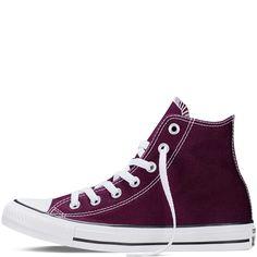 Converse - CT All Star Fresh Hi Canvas Sneakers (Big Kid) - Black Cherry