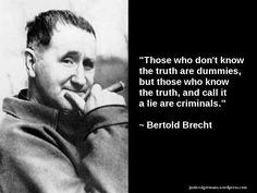 quotes, Bertold Brecht