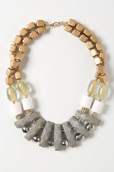 Metallic Cove Necklace  #anthropologie