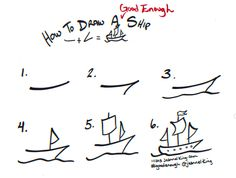 How to draw a Good Enough ship - tutorial image by Jeannel King