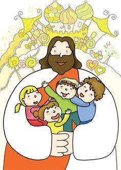 Jesus Cartoon, Jesus Is Alive, Bible Illustrations, Bible Crafts, Sunday School, Jesus Christ, Clip Art, Drawings, Stickers