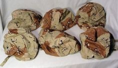 6-US-Military-Issued-Surplus-Kevlar-Helmet-Covers-Desert-Camouflage-Camo-XS-S