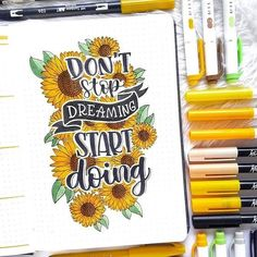 Comment a sunflower emoji if you see this! Absolutely love this quote and art! By 🌻🌻🌻 // Use the tag for a chance of being featured. Use the code for off at & (they all provide worldwide shipping! Remember to shop around! Bullet Journal Tracker, Bullet Journal Quotes, Journal Fonts, Bullet Journal Notebook, Bullet Journal Themes, Bullet Journal Spread, Bullet Journal Layout, Bullet Journal Inspiration, Journal Pages