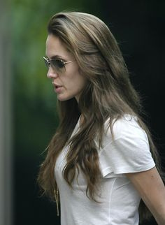 Angelina Jolie- I've been growing my hair for a year, and this is exactly what i am trying to get.