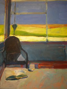ART & ARTISTS: Richard Diebenkorn……..WHAT A GREAT OFFICE THIS ARTIST HAD……BEAUTY ALL AROUND………ccp