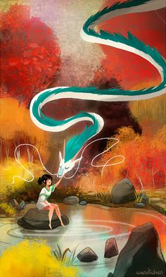 Spirited Away by Wendi Chen - This is brilliantly created -C