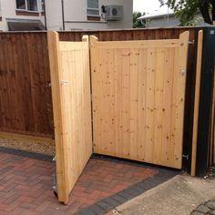 Wood Fence Styles Ideas [Best of Wood Fence Designs] Wood Fence Gates, Driveway Fence, Backyard Gates, Front Yard Fence, Patio Fence, Side Gates, Front Gates, Cedar Gate, Sliding Gate