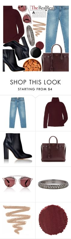 """Untitled #638"" by ladybow ❤ liked on Polyvore featuring Acne Studios, The Row, Gianvito Rossi, Yves Saint Laurent, Christian Dior, Roberto Coin, Burberry and Essie"