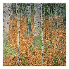 The Birch Wood Canvas Art by Gustav Klimt - BL0422-C1414GG