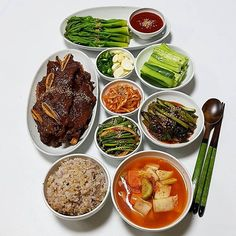 K Food, Food Menu, Food Porn, Daily Meals, Aesthetic Food, Perfect Food, Korean Food, Food Presentation, Easy Cooking
