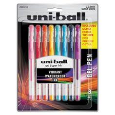 Zebra ZGE Gel Ink Stick Pens Metallic Barrel 0.7mm Pack of 30