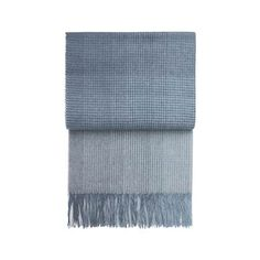 Room & Board - Horizon Micro Plaid Throw Blankets in Ocean - Modern Throws - Modern Bedroom Furniture 3d Chalk Art, Ottoman In Living Room, Modern Bedroom Furniture, Modern Bedding, Kids Decor, Home Decor, Decor Room, Alpaca Wool, Textiles