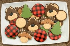 Decorated Bear Cookies.  I could not be more obsessed with these.