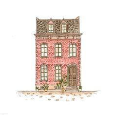 307. Dormer House | Rebecca Horne, illustration