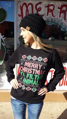 Merry Christmas Ya Filthy Animal #Christmas #Ugly #Sweater